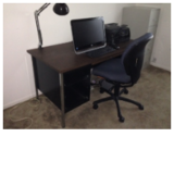 Steel desk for home office in Naperville, Illinois
