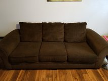 Brown couch and oversized chair in Temecula, California