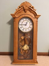 Manor House Solid Oak Chime Wall Clock in Lockport, Illinois