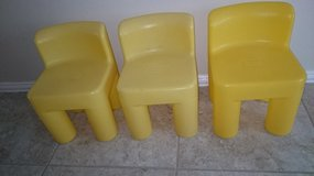 Little Tikes Chairs Yellow 3 in Baytown, Texas