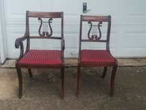 6 Lyre back dining chairs in Kingwood, Texas