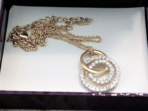 """(NIB)**14K Gold Plated """"Circle of Love"""" Pendant Necklace (18"""")** in Conroe, Texas"""