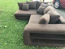 Brown sectional in Fort Campbell, Kentucky