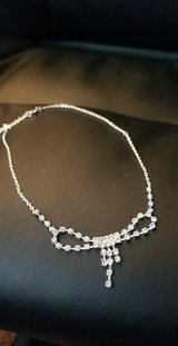 Diamond bow necklace in Bellaire, Texas