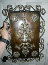 "Ornate Metal Scroll Bronze & Pewter Wall Art Plaque 18.5"" X 12.5"" in Kingwood, Texas"