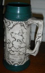 Green / Grey / White German / Bavarian Beer Stein Mug in Kingwood, Texas
