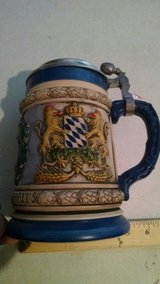 Thewalt German Beer-stein mug beautiful design great cond! Coat of arms in Fort Bliss, Texas