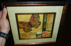 Framed & Matted Butterfly Wall Art Picture Copper / Metallic / Bronze ~ Monarch in Kingwood, Texas