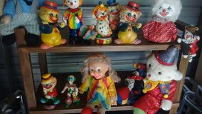 Clown dolls and banks in Louisville, Kentucky