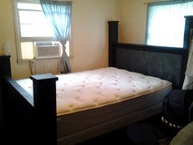 Queen size bedroom set- black & grey **Mattress set not included** in Quantico, Virginia