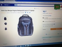 "Like New Swiss Wenger Pegasus Backpack For Up To 17"" Laptops in Belleville, Illinois"