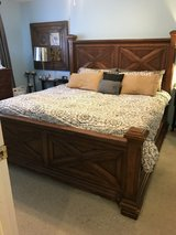 King bed headboard, footboard, rails, & boxsprings in Fort Carson, Colorado