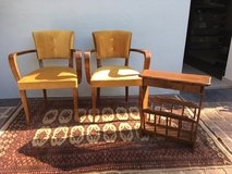 2 beautiful armchairs mid century Vintage + newspaper stand in Ramstein, Germany
