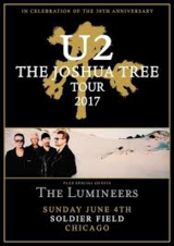 2 U2 Tickets - Soldier Field Sunday June 4, 2017 7:00pm in Glendale Heights, Illinois