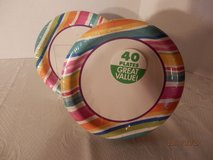 40 Multi Stripe Border Dessert Plates in Chicago, Illinois