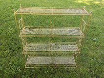 Vintage gold metal stand in Bartlett, Illinois
