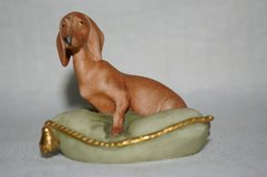"""Guiseppe Cappe """"Dachshund on Cushion"""" in St. Louis, Missouri"""
