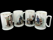 Norman Rockwell Museum Mugs 1985 collection, set of 4 in Spring, Texas