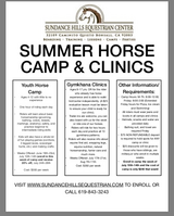Summer Horse Camp and Clinics in Oceanside, California