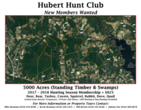 Hubert Hunt Club - New Members Wanted in Jacksonville, Florida