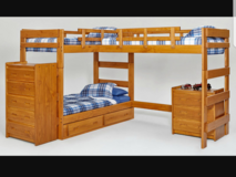 L shaped triple bunk bed in Bellaire, Texas