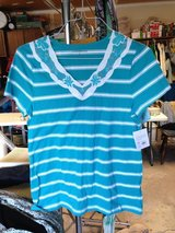 Teal/Turquoise Short Sleeve Top by Croft & Barrow (NEW) - S in Naperville, Illinois