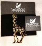 Signed Swarovski Giraffe Pin ~ Brooch Retired with Tags in Batavia, Illinois