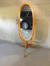 Oval standing mirror in Fort Campbell, Kentucky