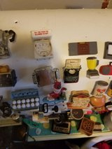 vintage assorted acme miniature household items fridge magnets highly collectible in DeKalb, Illinois