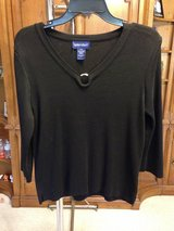 Black Pullover Long Sleeve Knit Top by Splendor - L in Naperville, Illinois