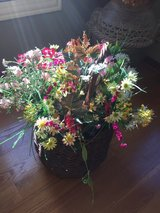 Large group of assorted silk flowers and vines in Naperville, Illinois
