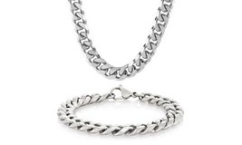 ***REDUCED***BRAND NEW***Men's Stainless Steel Chain Beveled Curb Chain SET*** in Cleveland, Texas
