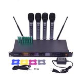 Professional 4 Channel VHF Handheld Wireless Microphone System w/ 4 Mics in Vacaville, California
