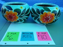 Mexican Pots in Fort Bliss, Texas