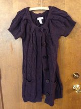 Plum Short Sleeve Knit Button up Dress  by Kenar - S in Bolingbrook, Illinois