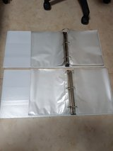 "2 x 3"" White 3-Ring Binders with 300 document protectors in Okinawa, Japan"