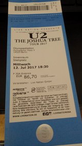 U2 Joshua Tree Berlin July 12th in Ramstein, Germany