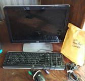 HP monitor, keyboard, mouse and cables in Fort Bragg, North Carolina