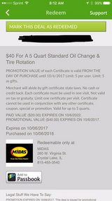 Groupon for Midas oil change in Naperville, Illinois