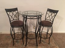 3 pc Glass-top Bistro Dining Set in Fort Campbell, Kentucky