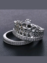 Sterling silver crown ring 2pcs.set in Lawton, Oklahoma