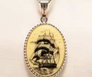 """Vintage Sarah Coventry Legend Scrimshaw Style Necklace Chain 30"""" Statement in Kingwood, Texas"""