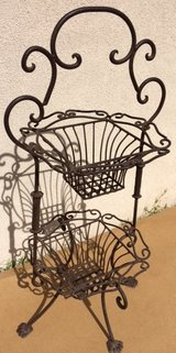 Wrought Iron 2-Tiered Baskets in Alamogordo, New Mexico