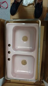 Vintage Pink Kitchen Sink- never been used in Kingwood, Texas