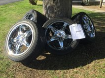 Chrome Akuza rims with Cooper tires in Watertown, New York