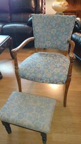 Antique Chair with matching stool in Fort Lewis, Washington