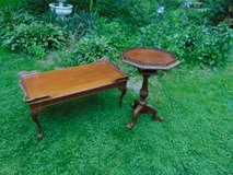 Antique Coffee Table and End Table in Aurora, Illinois