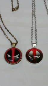 2 Deadpool Necklaces in Fort Benning, Georgia