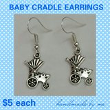 Baby Cradle Earrings in Fort Benning, Georgia