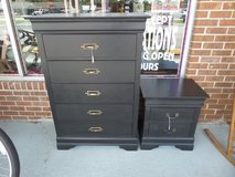DRESSER - 5 DRAWER & 2 DRAWER NIGHT STAND - BLACK in Cherry Point, North Carolina